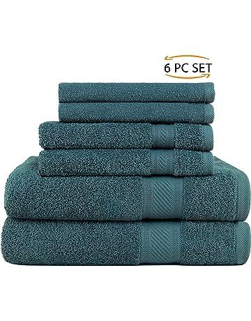 SweetNeedle - Uso diario Juego de toallas de 6 piezas, Teal - 2 toallas de