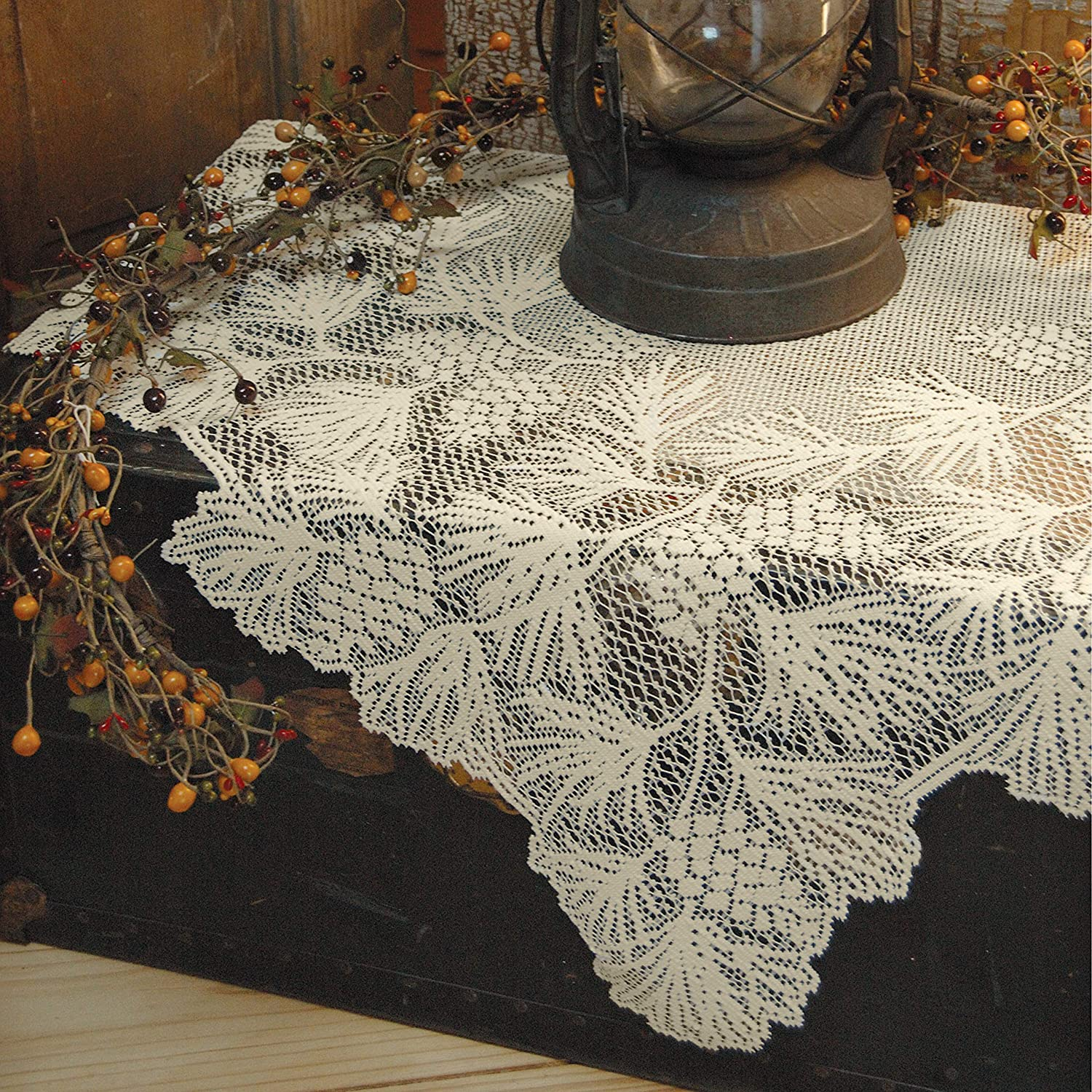 Heritage Lace Woodland Table Topper, Ecru, 36 x 36-Inch WL-3636E