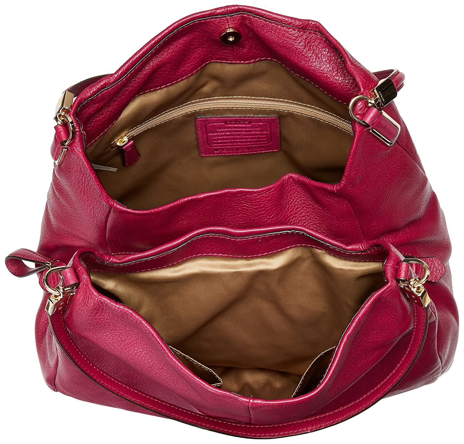 5ad439c395eb ... coupon code for coach madison leather small phoebe shoulder bag  shoulder bag cranberry amazon.in ...