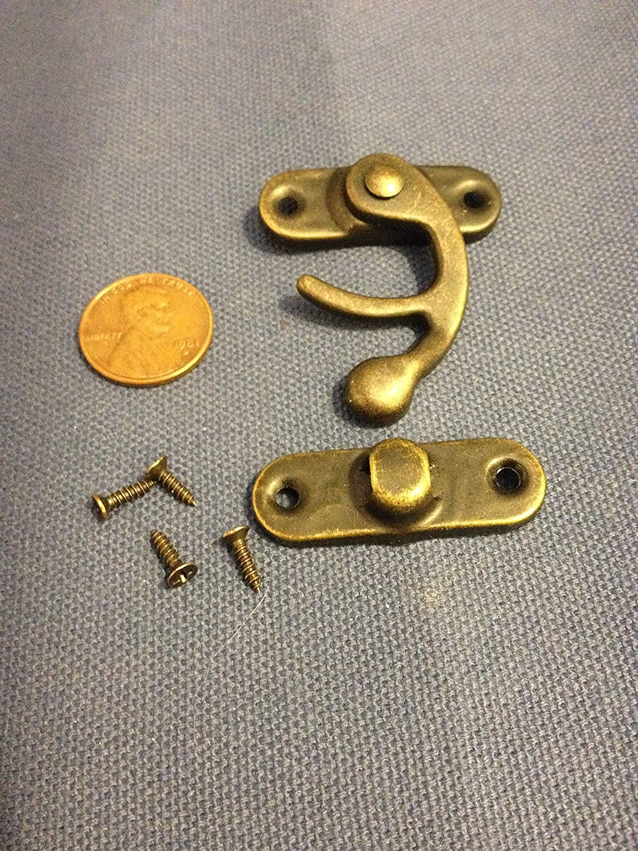 1 Piece Latch Hook Hinge Small Mini Antique Wood Box Catch Decorative B14