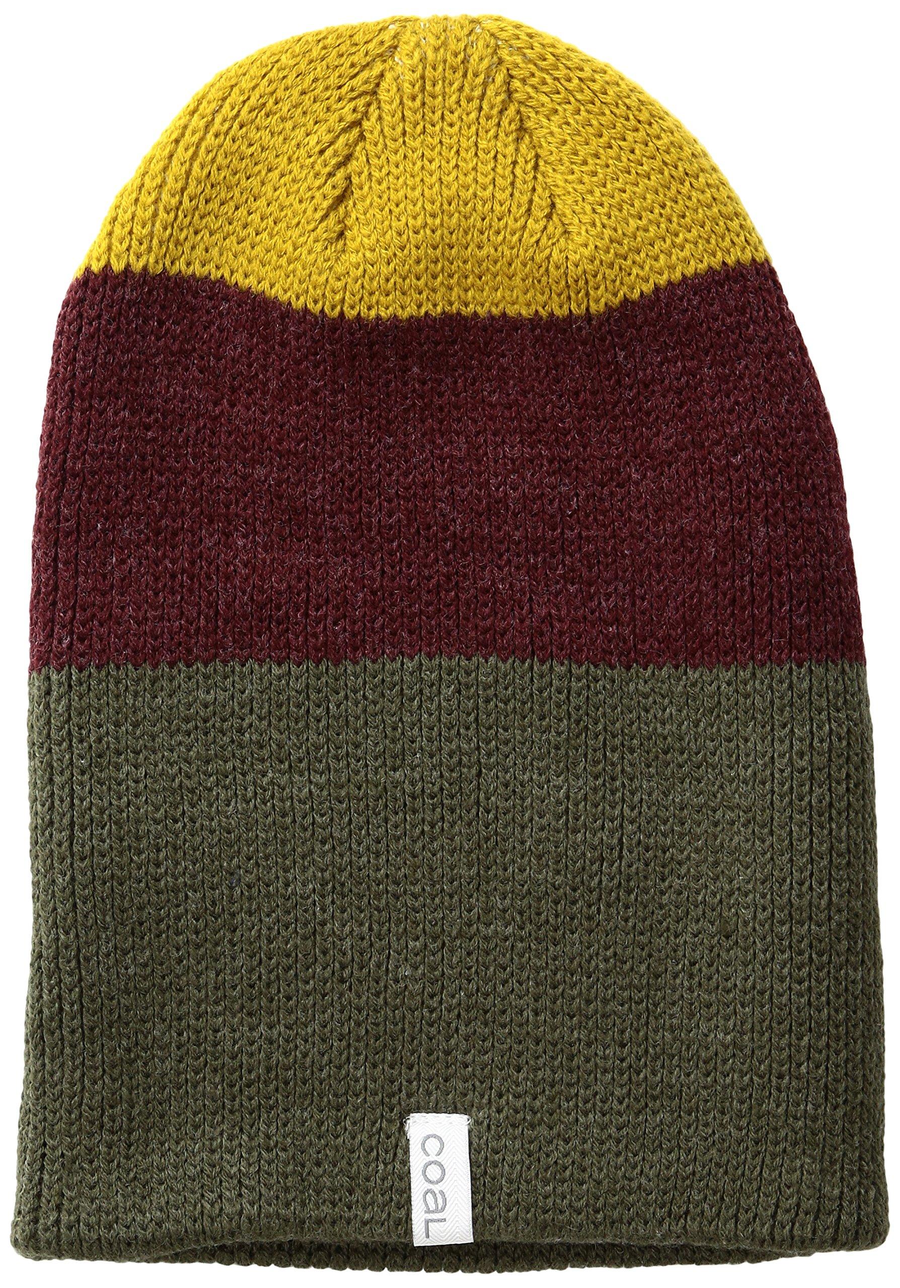 Coal Men's The Frena Solid Fine Knit Beanie Hat, Heather Olive, One Size
