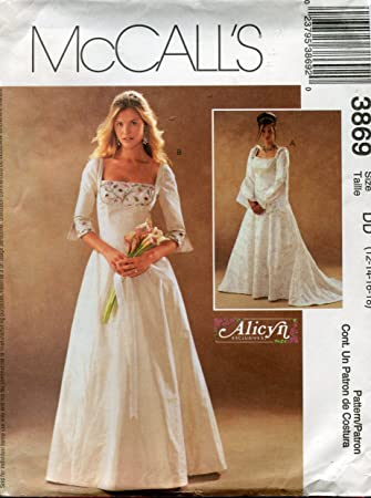 Amazon.com: McCall\'s Pattern 3869 Alicyn Exclusives Misses\'/Miss ...