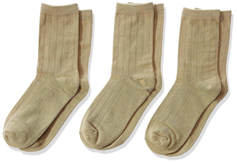 Jefferies Socks Little Boys Ribbed Crew Sock Three-Pack Jefferies Socks Boys 2-7 1158