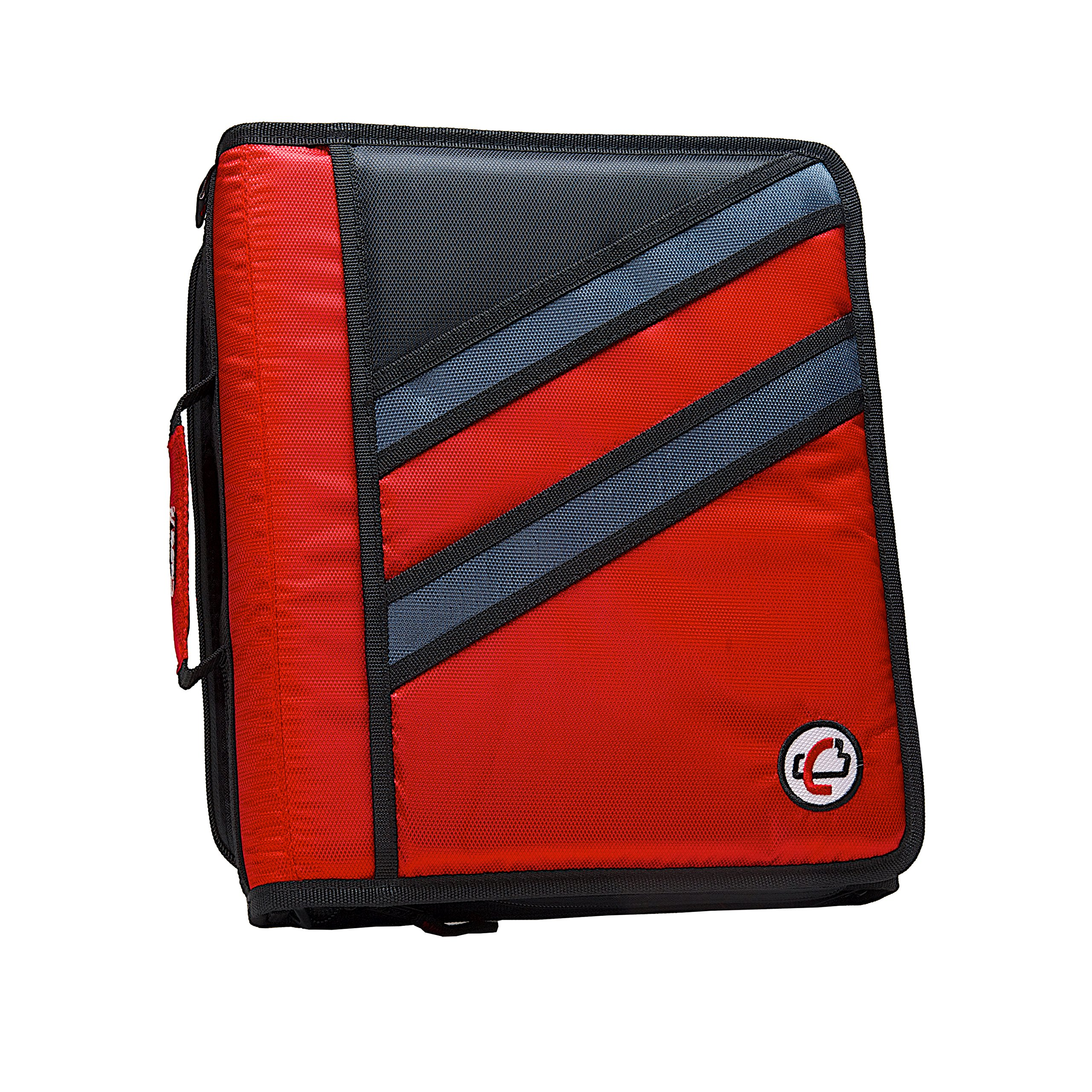 Case-it Z-Binder Two-in-One 1.5-Inch D-Ring Zipper Binders, Red, Z-176-RED