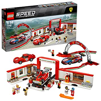 LEGO Speed Champions - Taller Definitivo de Ferrari, Set de ...