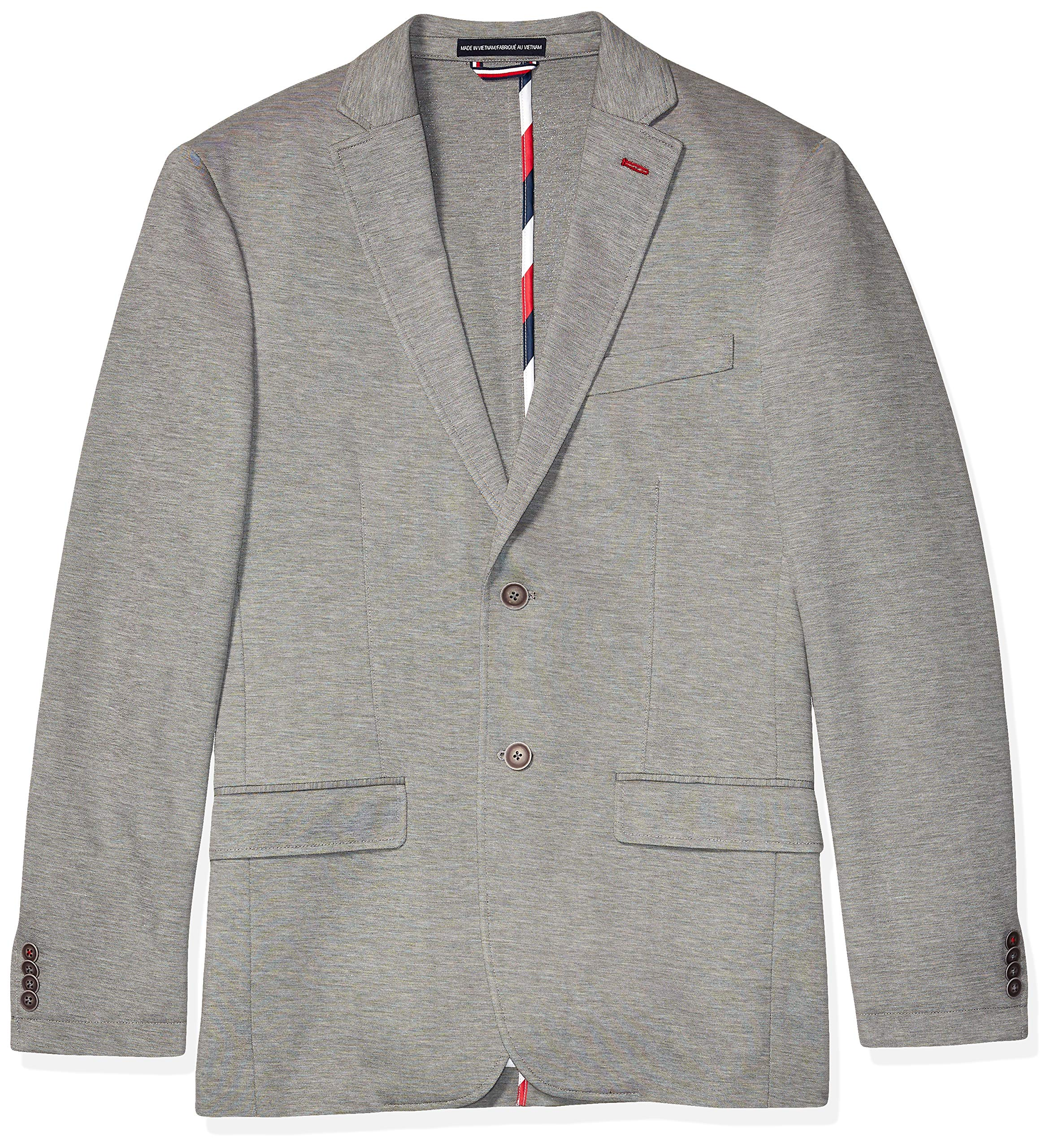 Tommy Hilfiger Men's Big and Tall Soft Jacket, Light Gray, 48R by Tommy Hilfiger