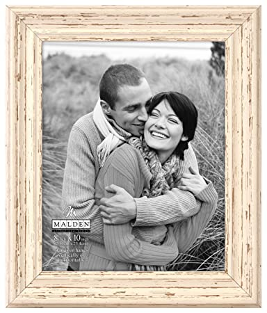 amazoncom malden international designs classic mouldings off white distressed picture frame 5x7 off white single frames - Distressed White Picture Frames