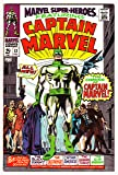 Marvel Super-Heroes #12, Dec. 1967. First Captain Marvel. 1950s Captain America, Human Torch, and Sub-Mariner