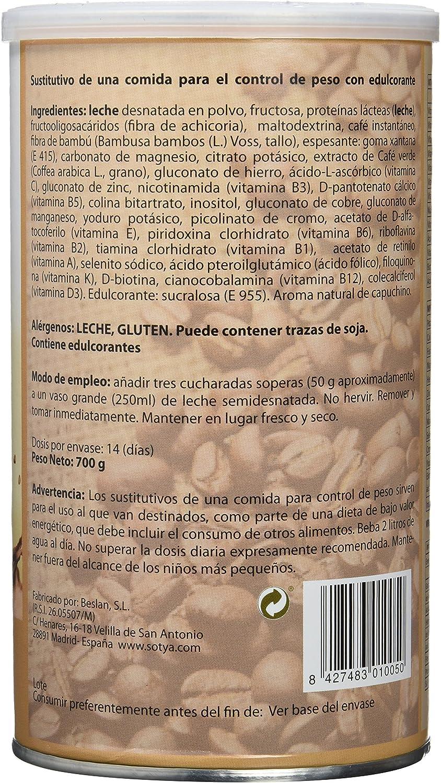 Sotya Saciantes, Batidos con sabor de Capuchino, 700 g: Amazon.es ...