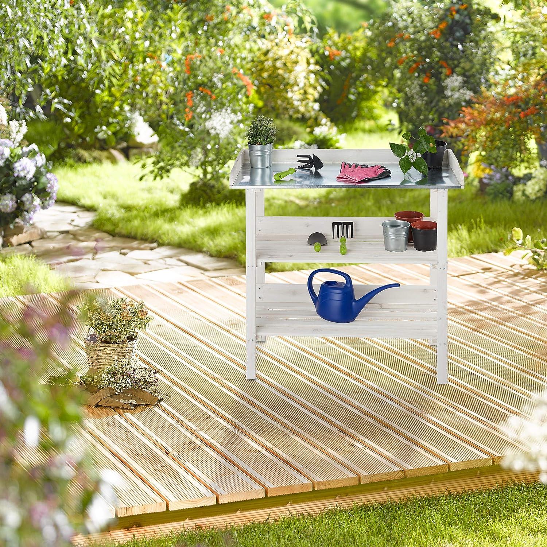 Relaxdays Mesa Jardinería, Estantería Plantas para Invernadero ...