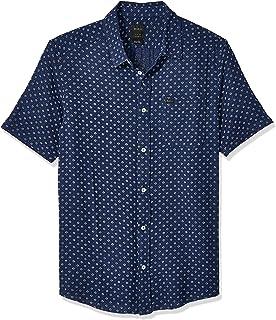 e4e35a8086 Amazon.com: RVCA Men's ANP Pack Short Sleeve Woven Button Front ...