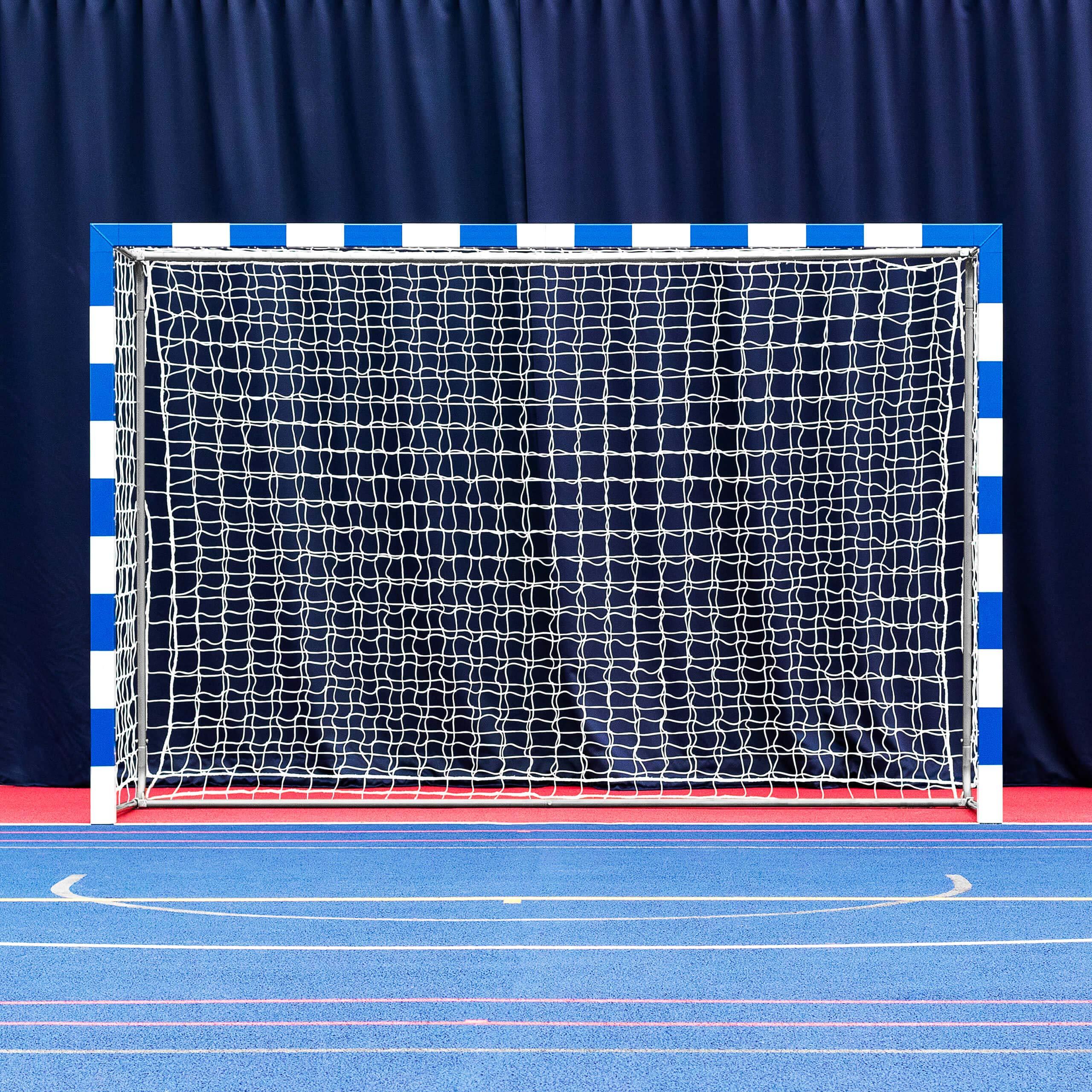 Forza Alu80 Competition Handball Goals   IHF Regulation Size 3m x 2m Handball Goal [Net World Sports] (Pair, Blue) by Forza (Image #2)