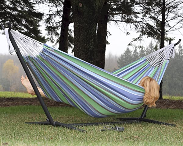 Vivere Double Hammock with Space Saving