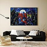 Uhomate super-héros Spiderman Poster Vincent Van Gogh Nuit étoilée Posters Home sur toile Décoration murale anniversaire cadeaux Cadeau bébé Chambre d'enfant Décor Salon Décor mural A203Ensemble, 8x10 inch