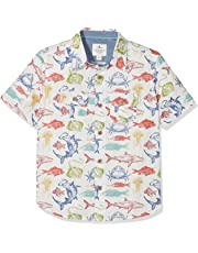 Fat Face Deep Sea Print, Camisa para Niños
