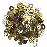 Aokbean 150 Gram Assorted Vintage Mixed Color Metal Gears Steampunk Jewelry Making Resin Charms Cog Watch Wheel (Mixed Color)