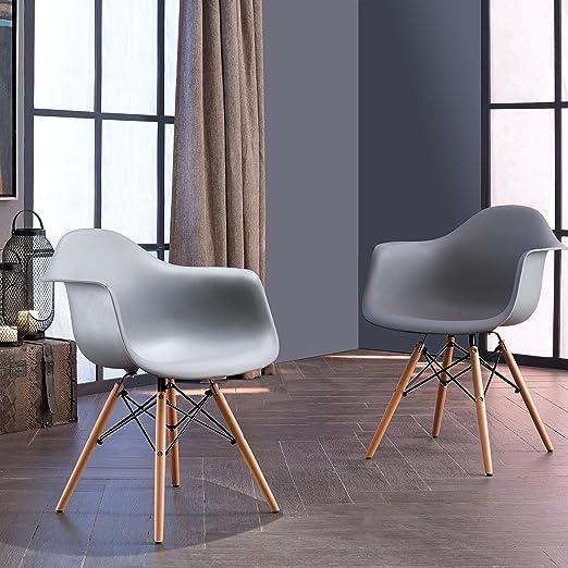 Amazon.com: 30 inches Set de dos sillas de comedor (2 ...