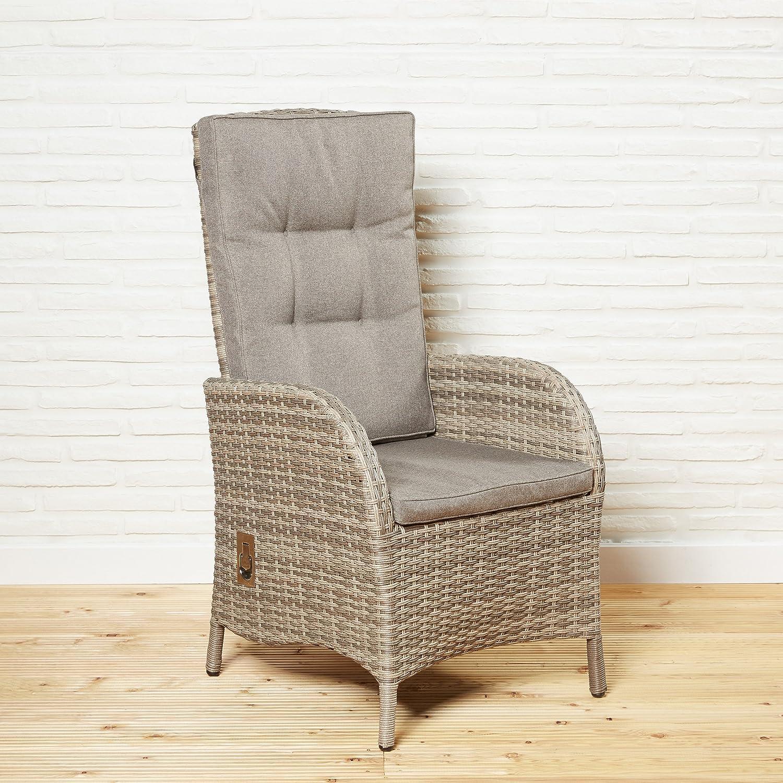 Poly Rattan Gartenmöbel braun Gartenstuhl Stühle Hochlehner Gartensessel Stuhl