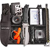 WEYLAND Outdoor Tactical Survival Kit - Emergency Gear and Equipment with a Full Size Survival Knife, EDC Camping and…