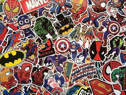 Sbs Lot De De Stickers Autocollants Super Héros Marvel Dc