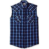 ELY CATTLEMAN Men's Sleeveless Textured Plaid Shirt