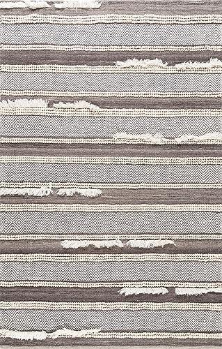 nuLOOM Liles Hand Loomed Chevron Wool Rug, 6 x 9 , Brown
