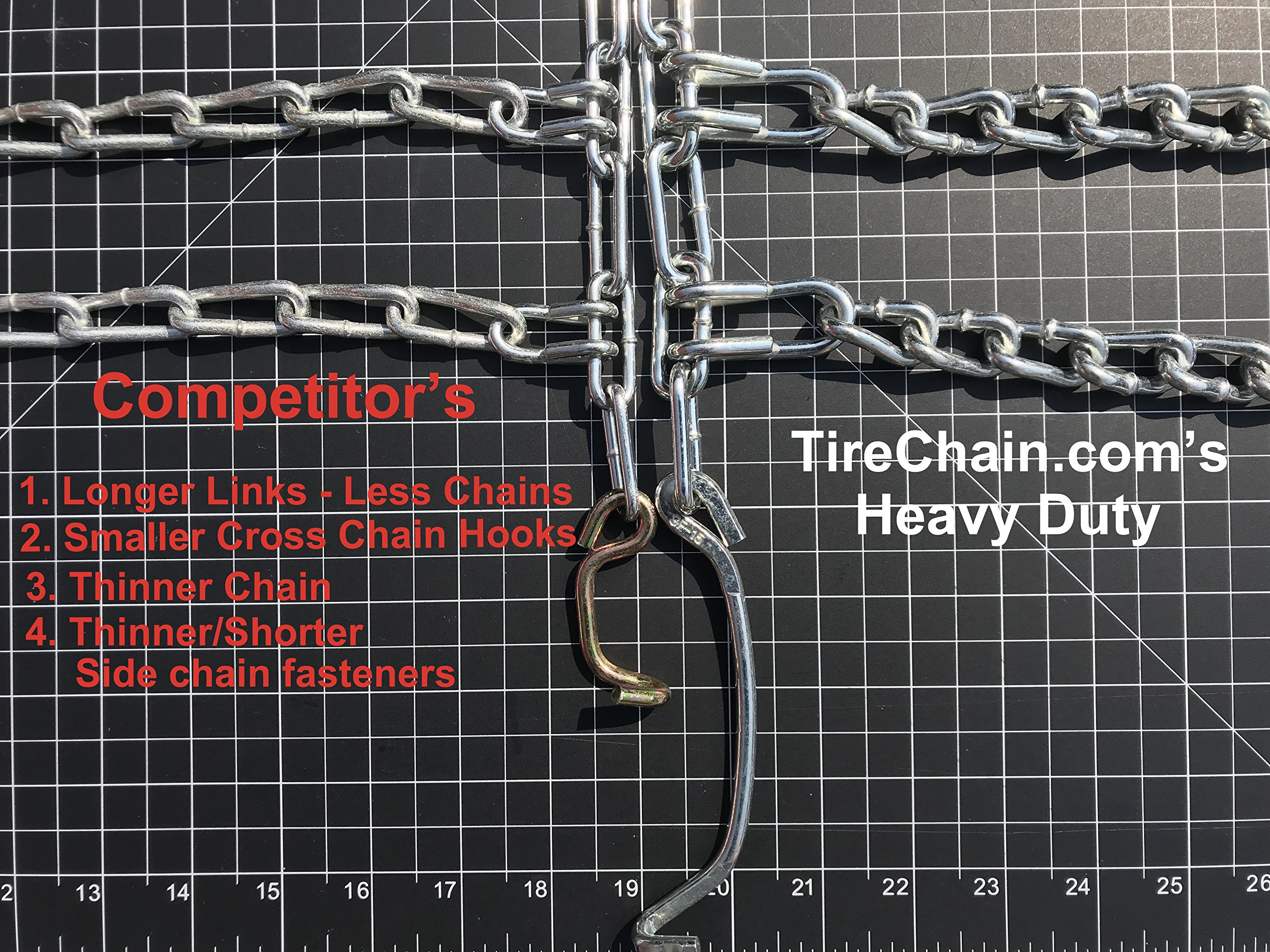 TireChain.com Heavy Duty, 2-link Lawn and Garden Tire Chains, Priced per pair. 23 X 9.50 X 12, 23 X 10.50 X 12 by TireChain.com (Image #5)