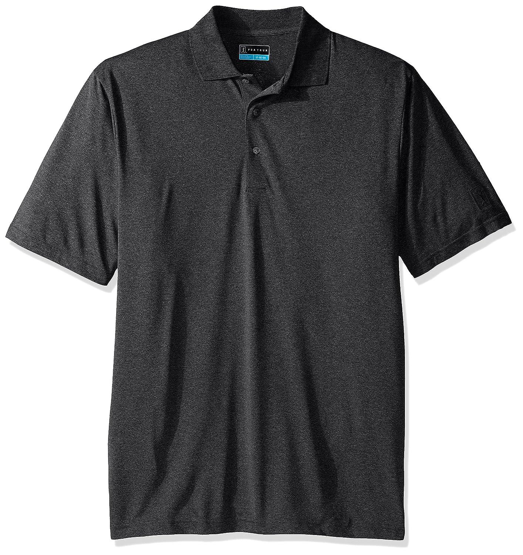 PGA TOUR Mens Short Sleeve Driflux Heather Polo