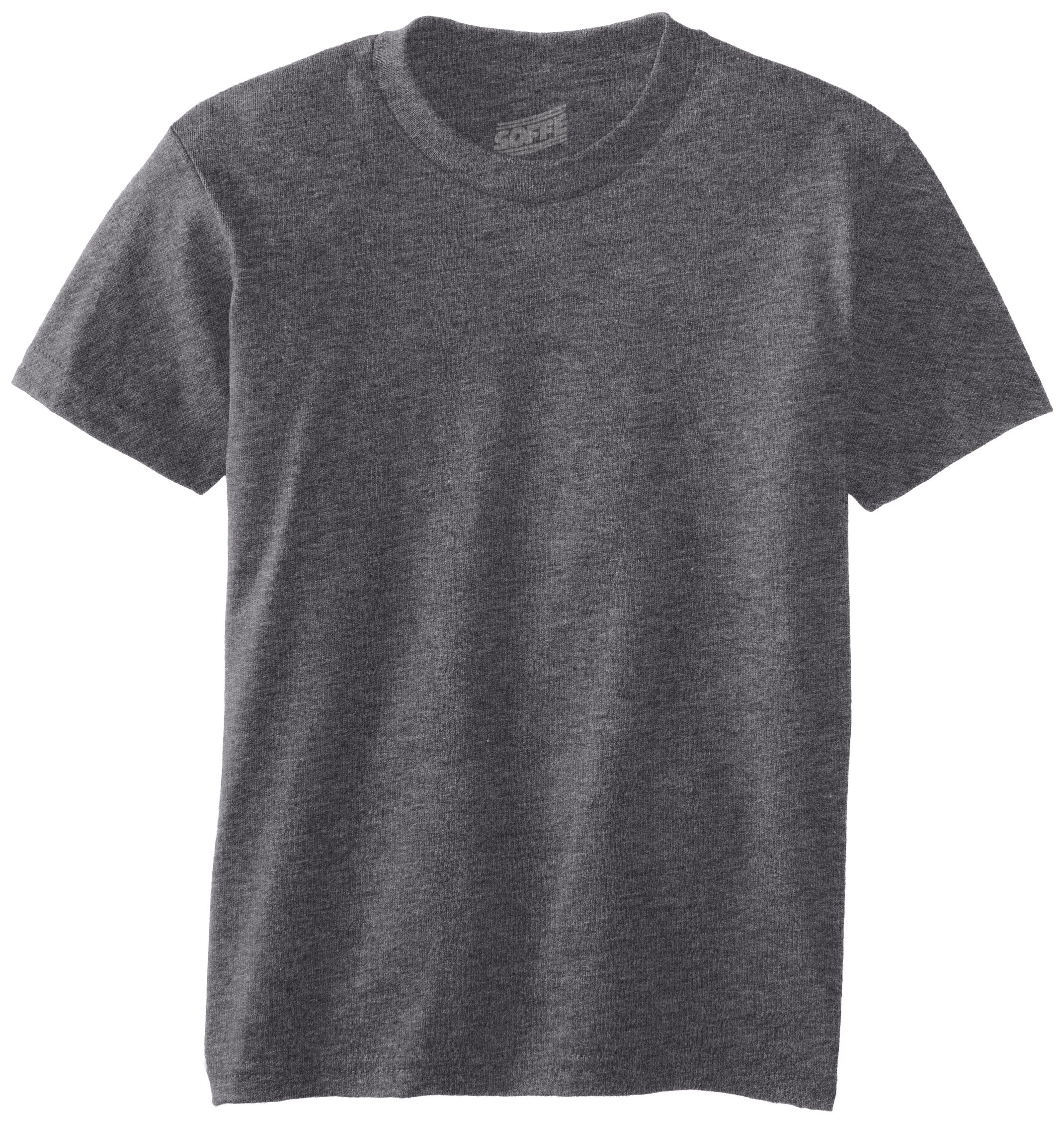 MJ Soffe Big Boys' Youth Pro Weight Short Sleeve Tee, Charcoal Heather, Large