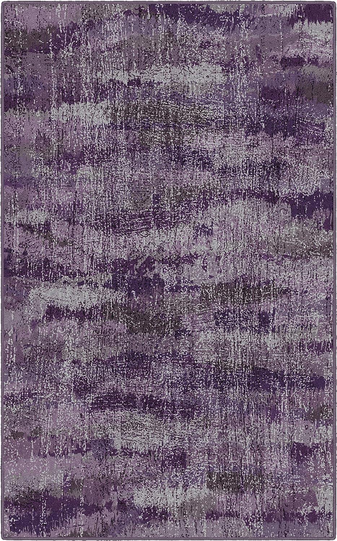"""Brumlow Mills EW10132-40x60 Rustic Plum Purple Vintage Abstract Area Rug, 3'4"""" x 5',"""