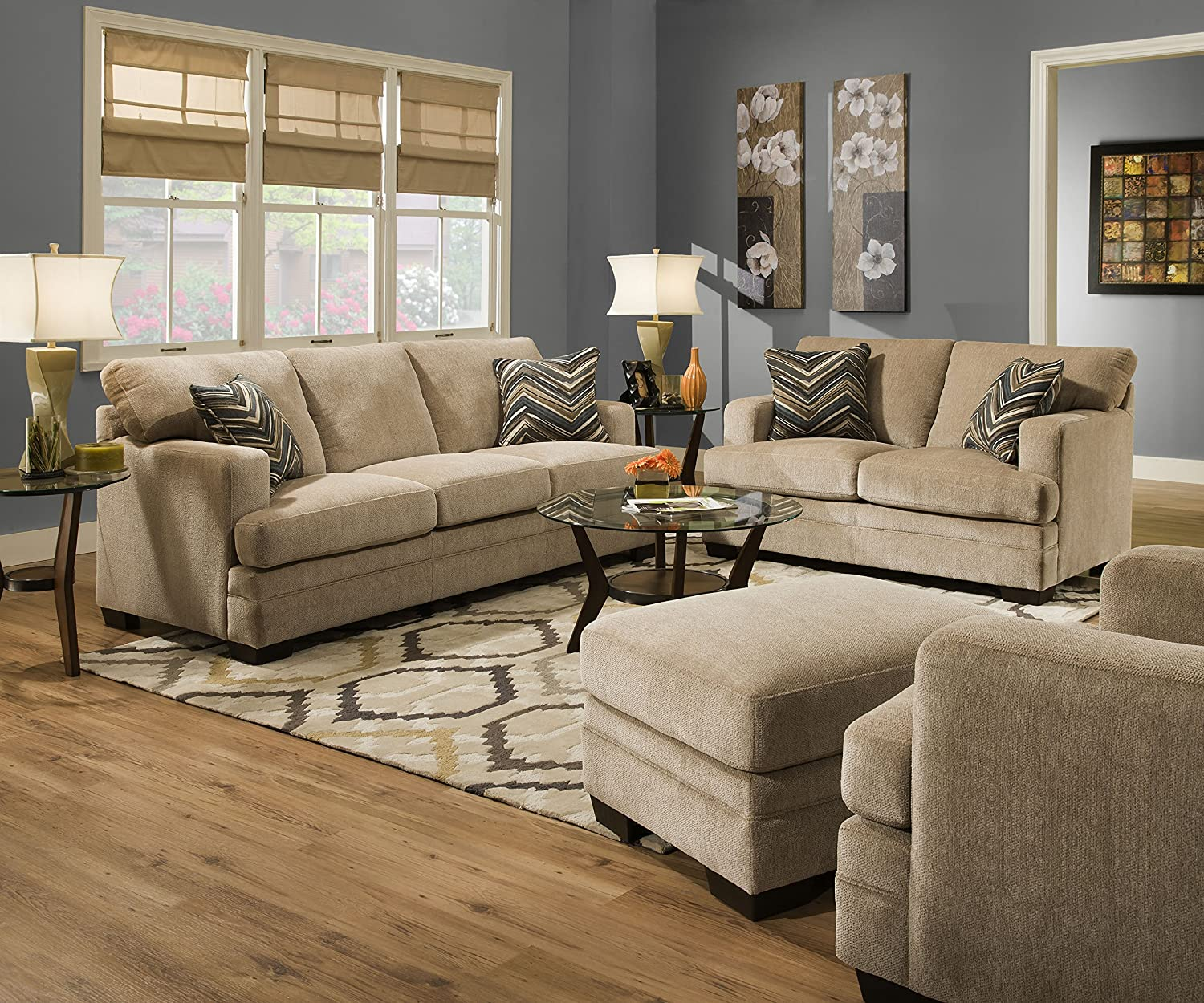 Simmons Living Room Set.  Amazon com Simmons Upholstery Sassy Barley Sofa Kitchen Dining