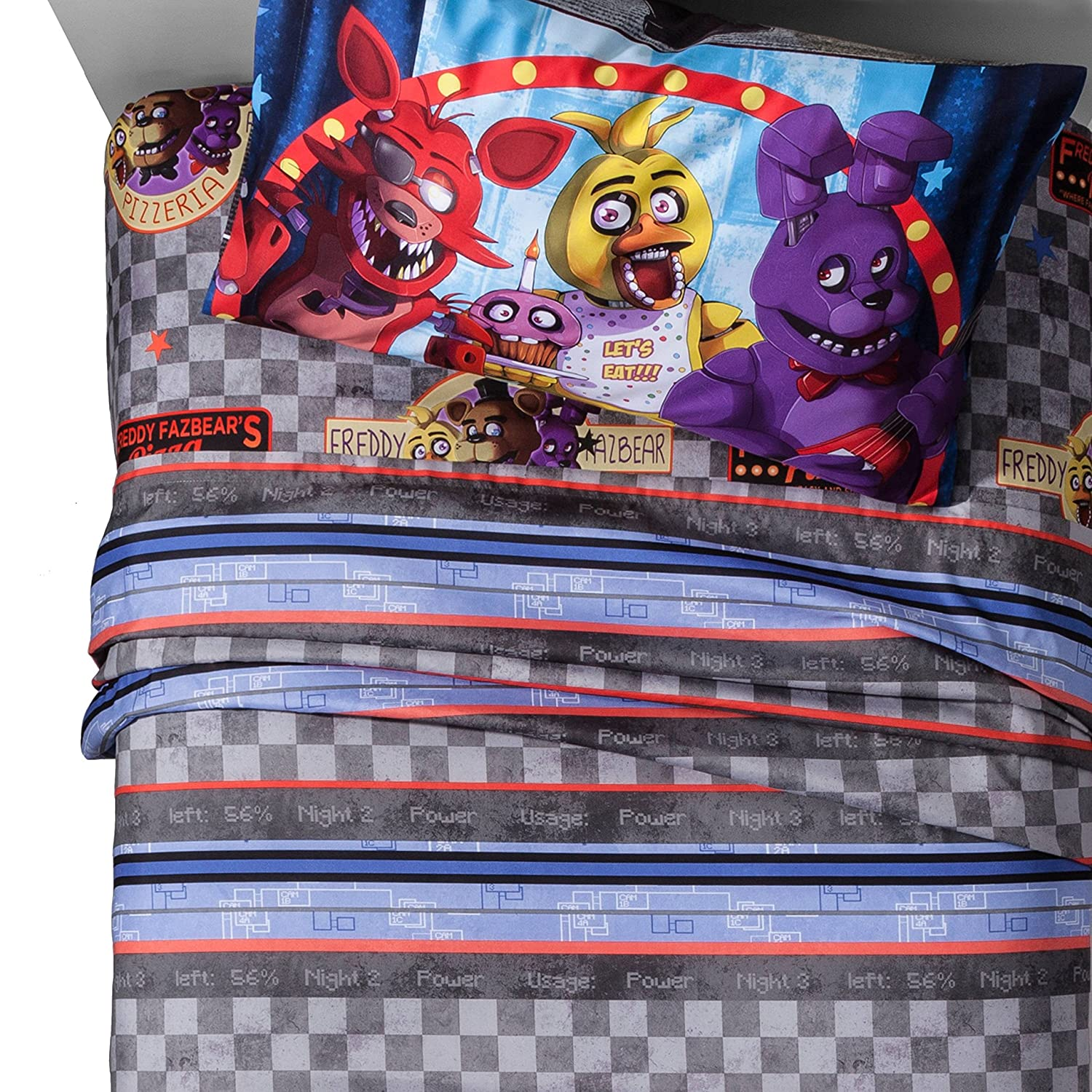 Five Nights at Freddy's Sheet Sets (Twin) franco