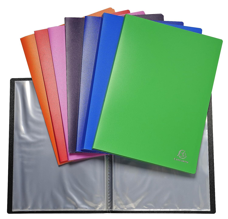 Exacompta 8820e–Confezione di 10cartelle di 20buste PVC, A4, Multicolore