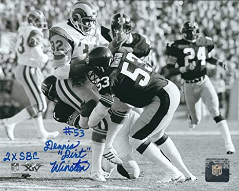 edf994c3f Autographed Dennis Dirt Winston Pittsburgh Steelers 8x10 Photo at ...