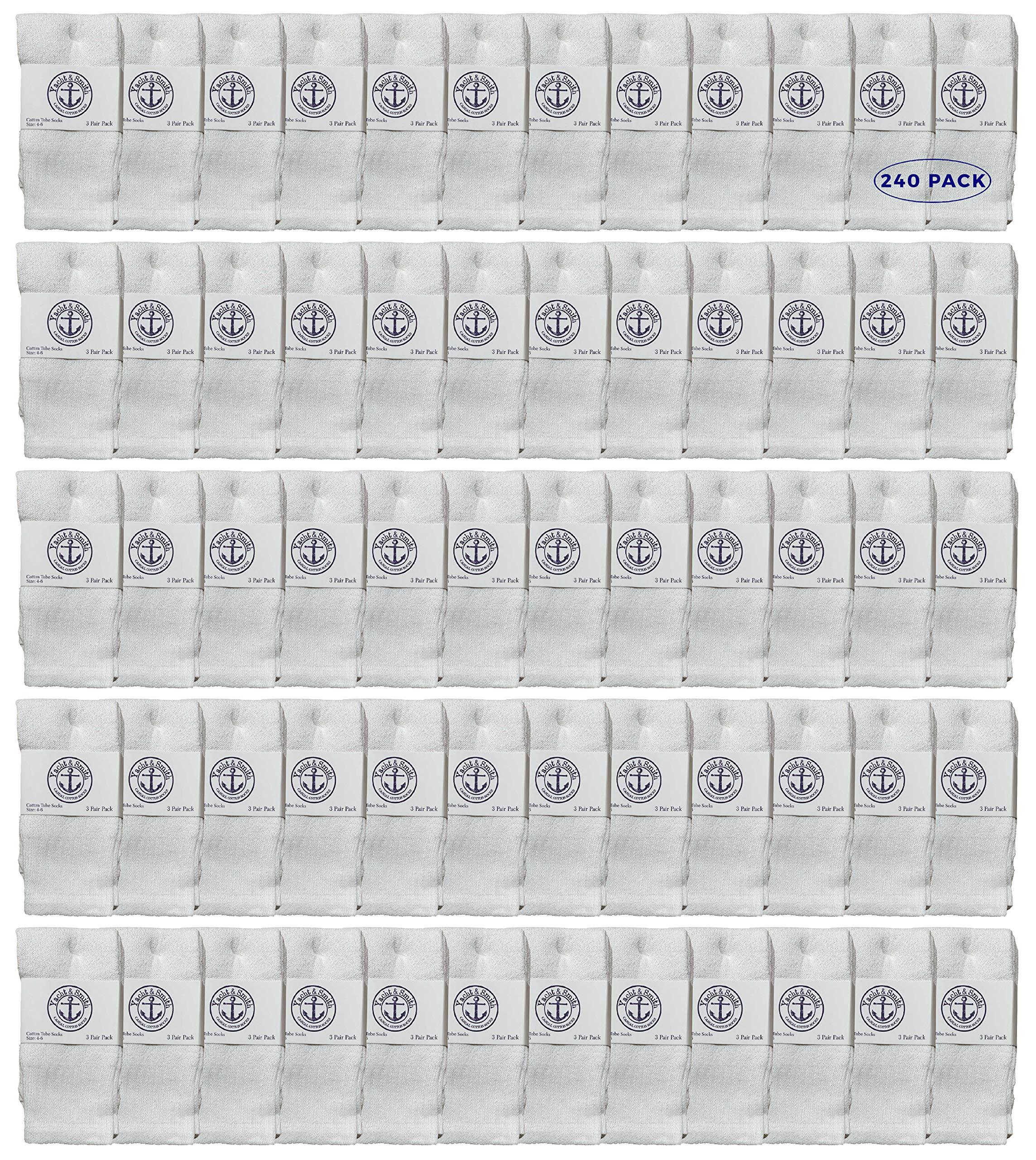Yacht & Smith Wholesale Kids Tube Socks, Cotton Bulk Sport Socks Size 4-20 by Yacht & Smith