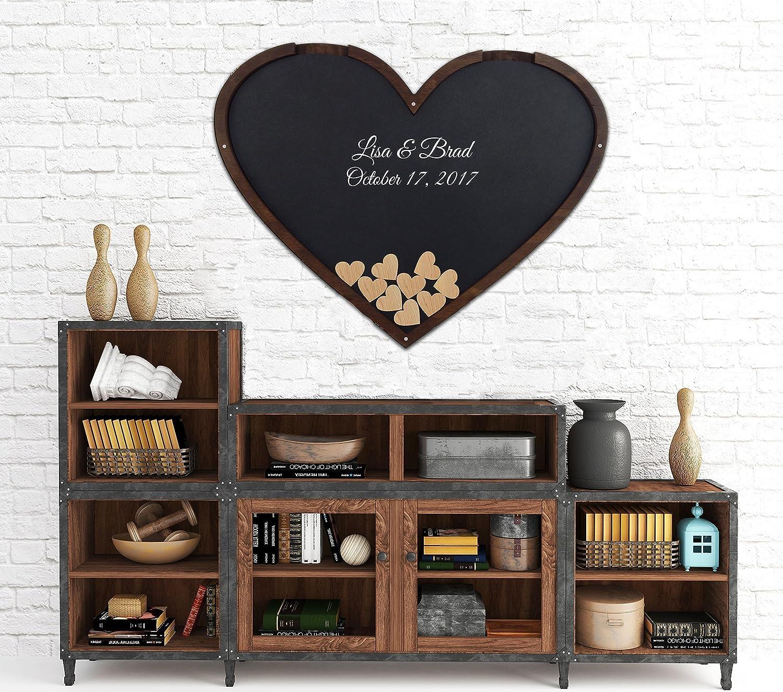 Heart Shape Wedding Guestbook - Guest Book Alternative - Drop Box