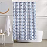 AmazonBasics Blue Diamond Bathroom Shower Curtain - 72 Inch