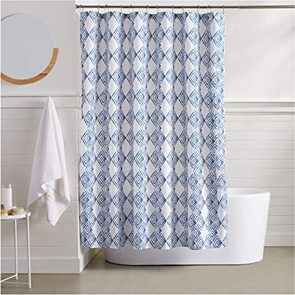 Image Unavailable Not Available For Color AmazonBasics Blue Diamond Shower Curtain