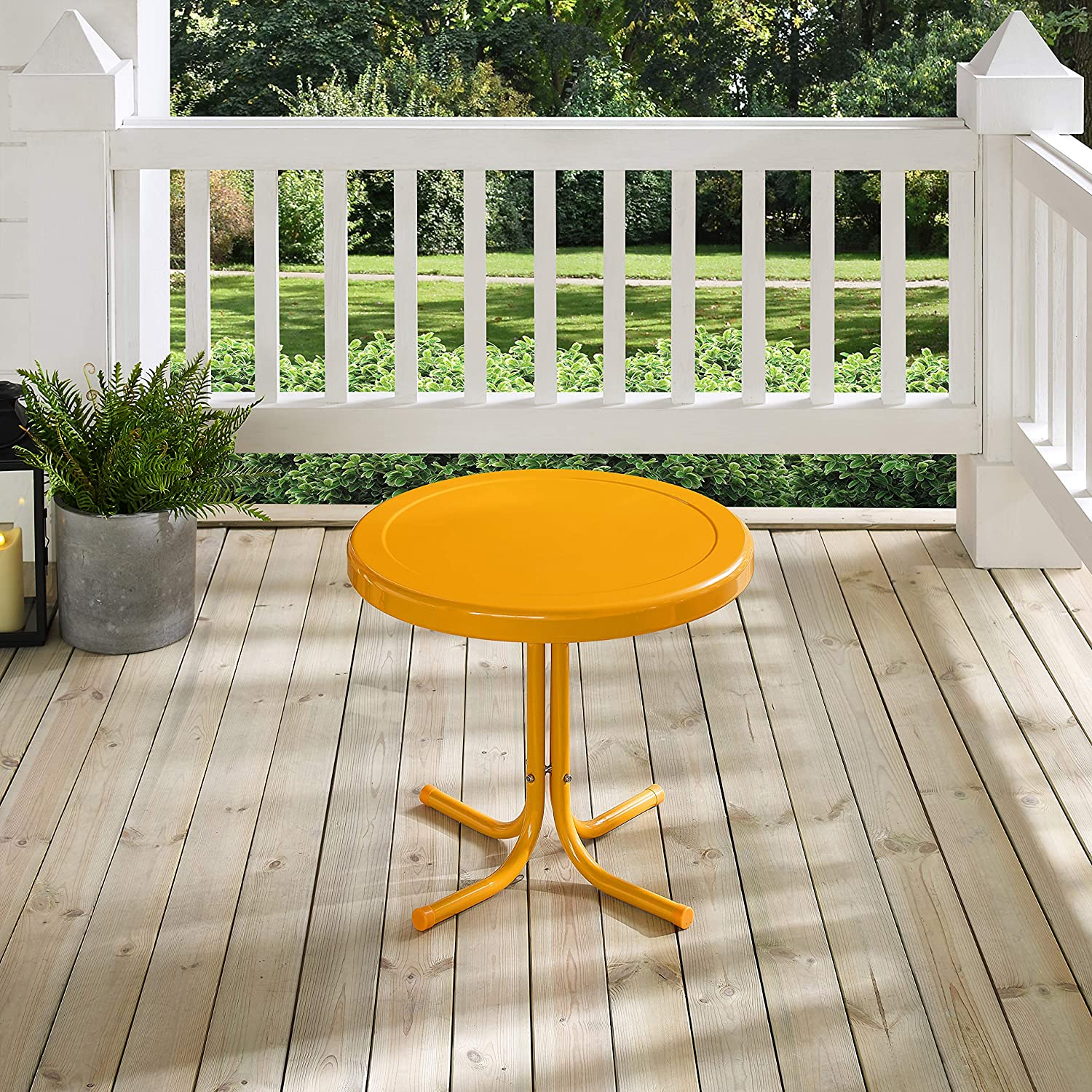 Tangerine Crosley Furniture CO1011A-TG Griffith Retro Metal Outdoor Side Table