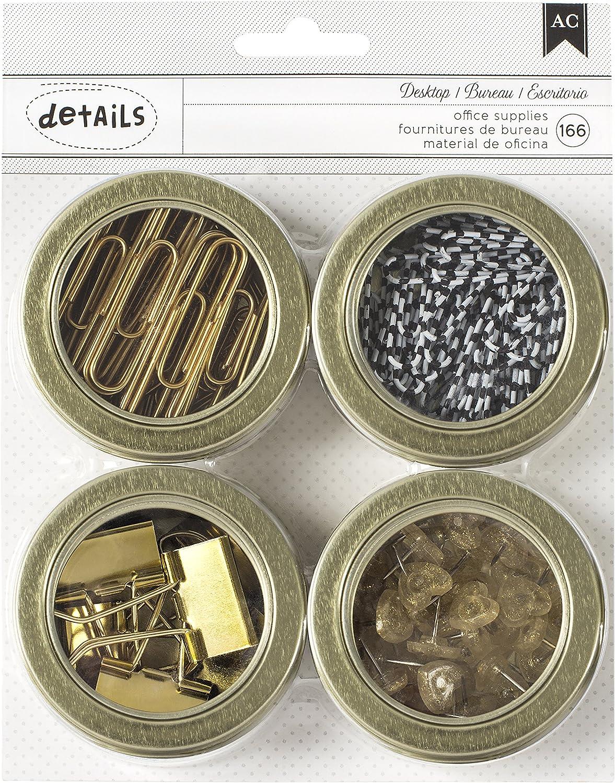 Mehrfarbig American Crafts Value Pack magnetisch B/üro Dosen 2,5/4//pkg-Assortment # 2 andere 166//Pkg