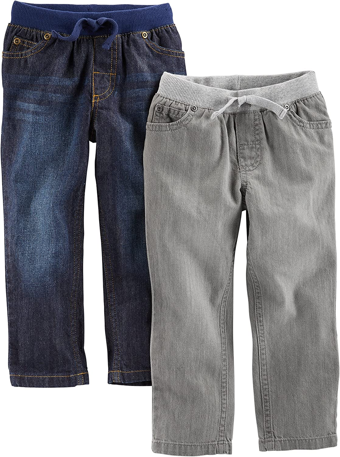 Simple Joys by Carter's Toddler Boys' 2-Pack Pull On Denim Pant: Clothing