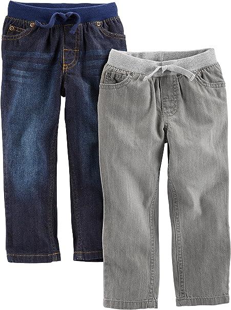 Pack of 2 Simple Joys by Carters Boys 2-Pack Pull on Fleece Pants