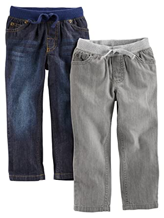 666107512 Amazon.com  Simple Joys by Carter s Toddler Boys  2-Pack Pull On Denim  Pant  Clothing