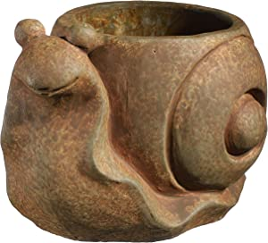 Classic Home and Garden 9/3472R/1 Snail Planter, Large, Rust