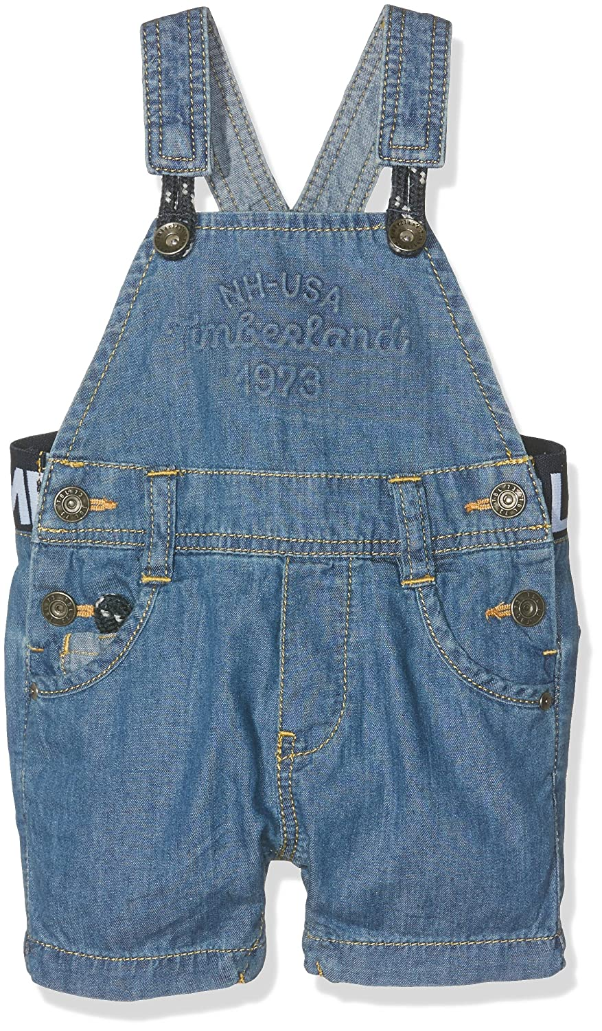 Timberland Baby Boys' Dungarees Blue (Bleach) 3-6 Months T94659