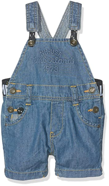 Timberland Baby Boys' T94659 Dungarees, Blue (Bleach), 6 9