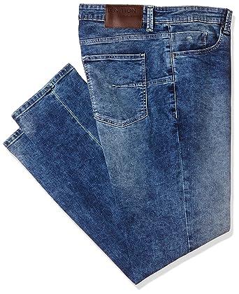United Colors of Benetton Men s Slim Fit Jeans  (8903975383517 17P4L23R3006I901 28W x 32L Blue) c5492019e812