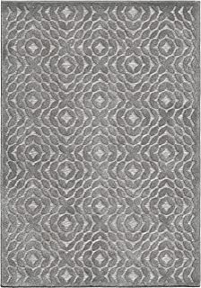 product image for Orian Rugs Boucle High-Low Indoor/Outdoor Sandpiper Area Rug, 5' x 7', Silverstone