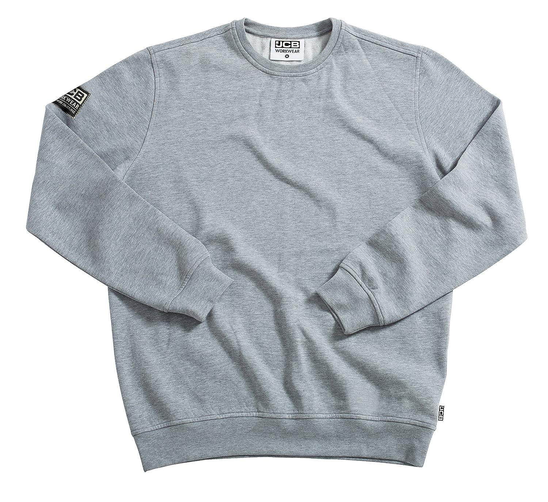 JCB Essential Sweatshirt Pullover Jumper Grey Men/'s Workwear Sizes M-XXL