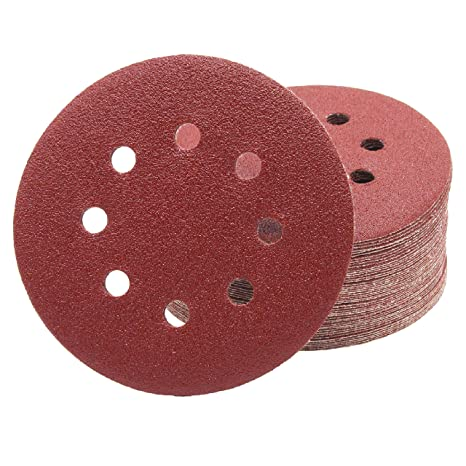 Abrasive Tools 100% Quality 100pcs 5 125mm With 6 Hole White Sander Sand Paper Sanding Disc Sanding Sheets